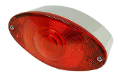 Cateye Tail Brake Light with clear lens on bottom for license plate.