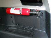 FM1 Rear Cargo Fire Extinguisher Mount for ALL years of Toyota FJ Cruiser.