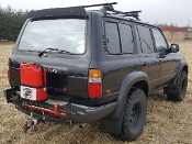 JM4 Jerry Can & Hi-Lift Jack Mount Land Cruiser FJ80 FZJ80 LX450