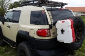 JM3-RP2 Dual 2 Gallon RotoPax Can Mount for Toyota FJ Cruiser